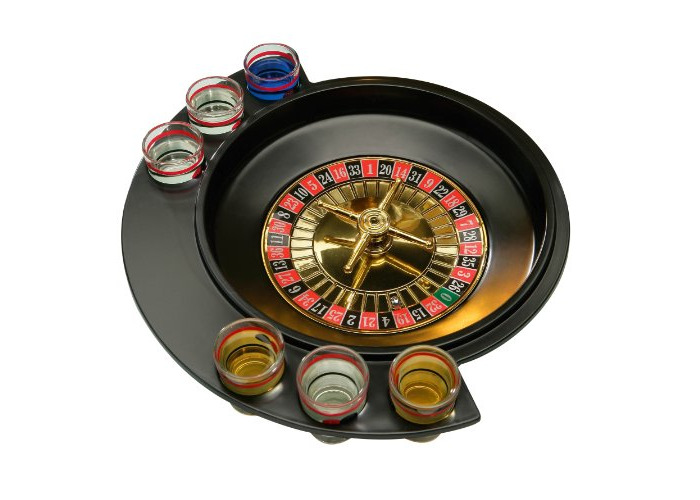 Premier Housewares Roulette Lucky Shot Drinking Game, 6 Glass - 1