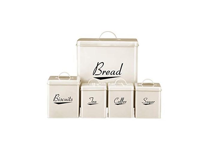 Premier Housewares Storage Set, 5-Pieces - Cream - 1