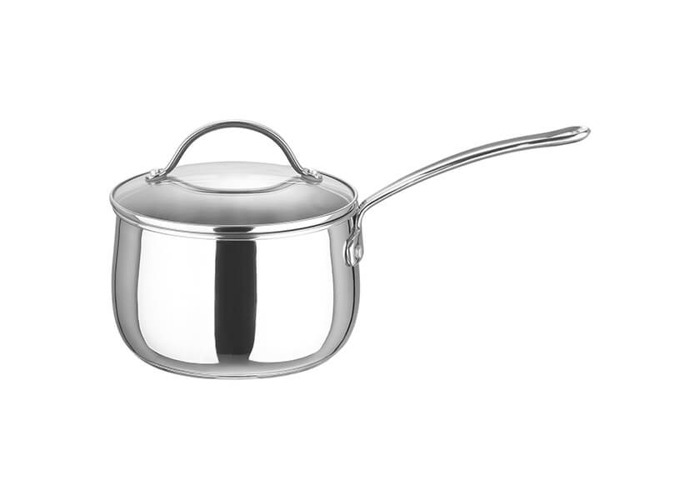 Prestige Bell Stainless Steel 18 cm Saucepan with Glass Lid - Silver - 1