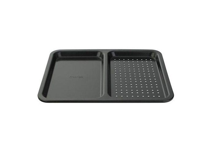 Prestige Inspire Steel 40x33 cm Split Oven Tray - Black - 1