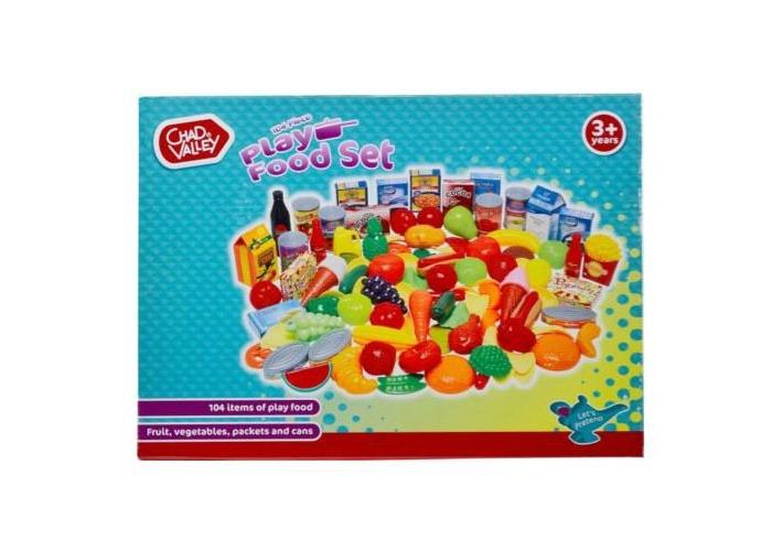 pretend picnics,104 Piece Play Food Set. - 2