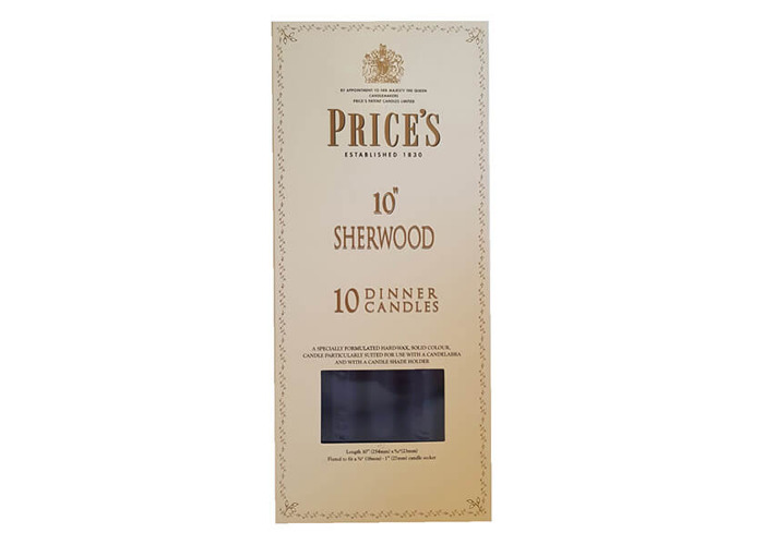 """Prices 10"""" Sherwood Candle Midnight Blue Pack Of 10 - 1"""