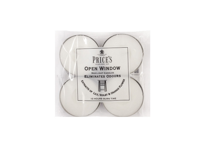 Prices Fresh Air Open Window Maxi Tealights Pack Of 4 - 1