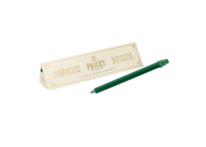 Prices Sherwood 12 inch Dinner Candle Pack Of 3 Evergreen - 1