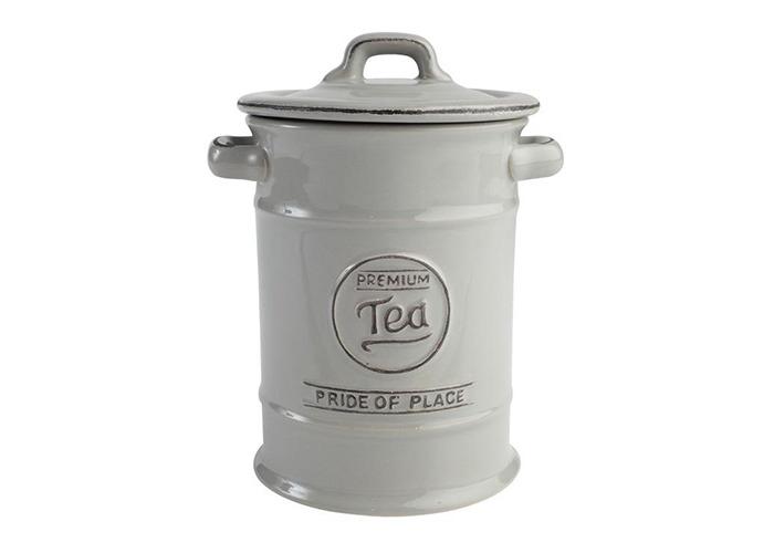 Pride of Place Tea Coffee and Sugar Storage Jars Ceramic Cool Grey - 2