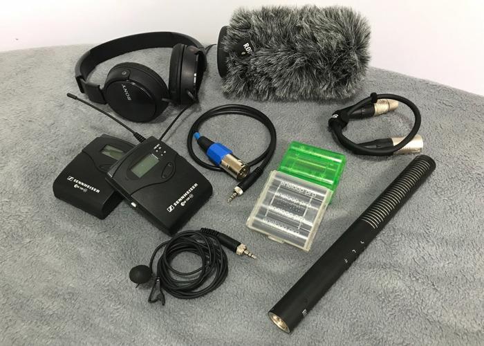 Pro Audio Kit for Video inc. Sennheiser Radio Mic, Rode NTG-4 - 1
