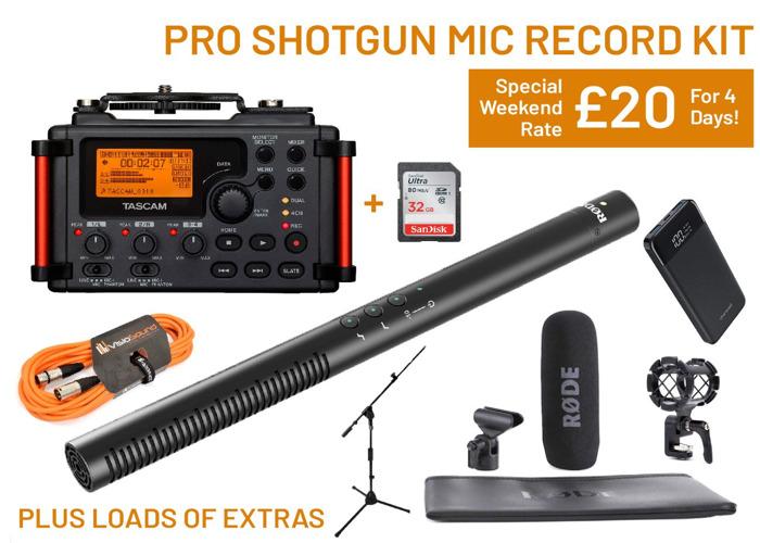 Pro Audio Recording Kit | RODE NTG4+ TASCAM DR60DII + EXTRAS - 1