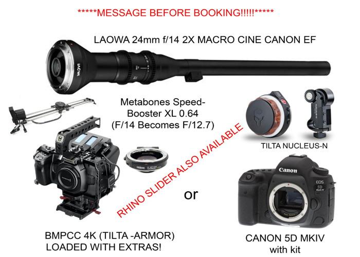 Probe lens Canon EF Cine Laowa 24mm f/14 2X Macro kit bmpcc  - 1