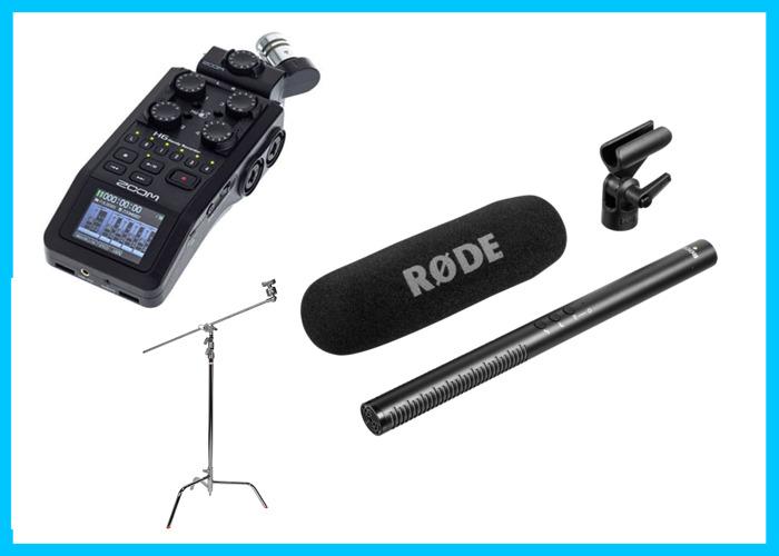 Professional Interview Film Audio Set Zoom H6 Rode NTG - 1