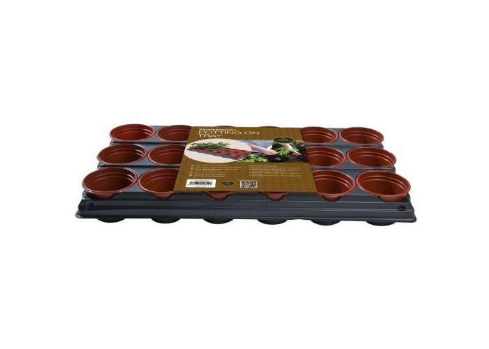 Professional Potting On Tray with 18 9cm Plant Pots - 1
