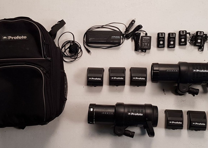 Profoto B1 500w AirTTL Location Flash Kit & Extra Batteries - 1