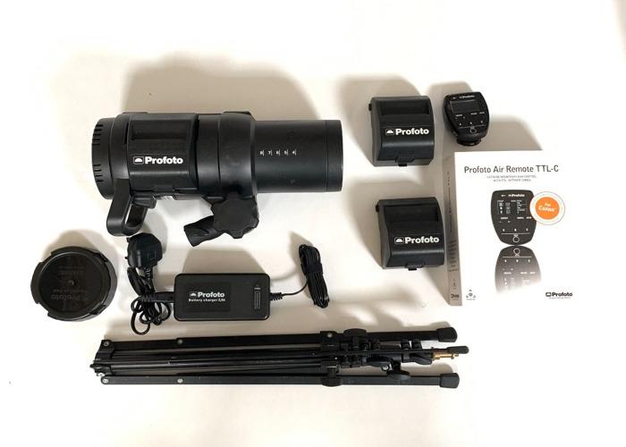 Profoto B1X Air TTL lights Canon Air Remote + 2 Batteries - 1