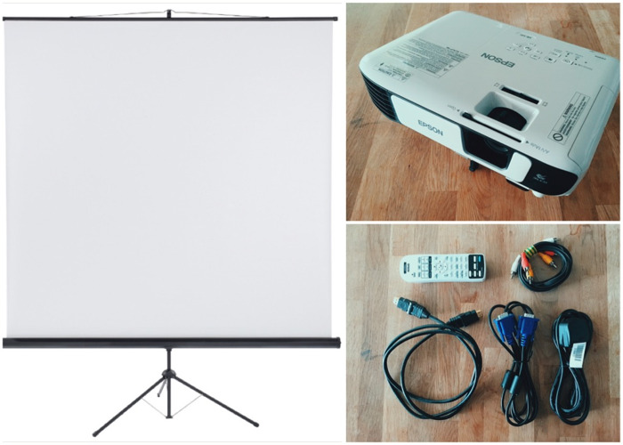 Projector with screen - 1