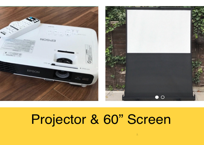 Projector & Screen Epson EB-W04 HDMI 3000 Lum - 1