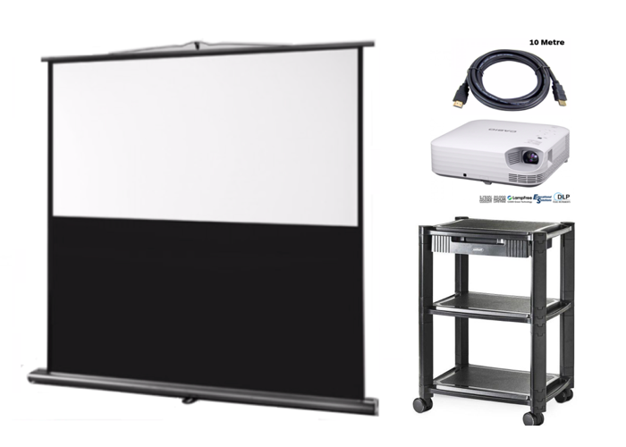 Projector and screen - 1