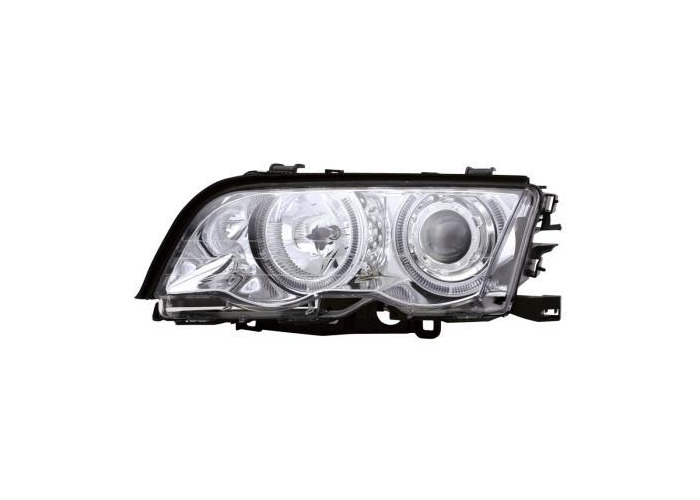 Projector Headlights LHD Angel Eye Pair For BMW E46 Coupe Cabrio 09/01-03/03- On - 1