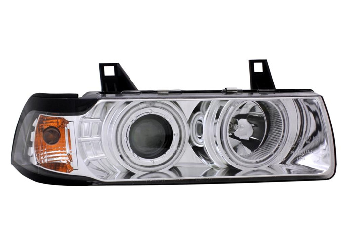 Projector Headlights LHD For BMW E36 Coupe Cabrio 90-99 Cool-Look Ange - 1