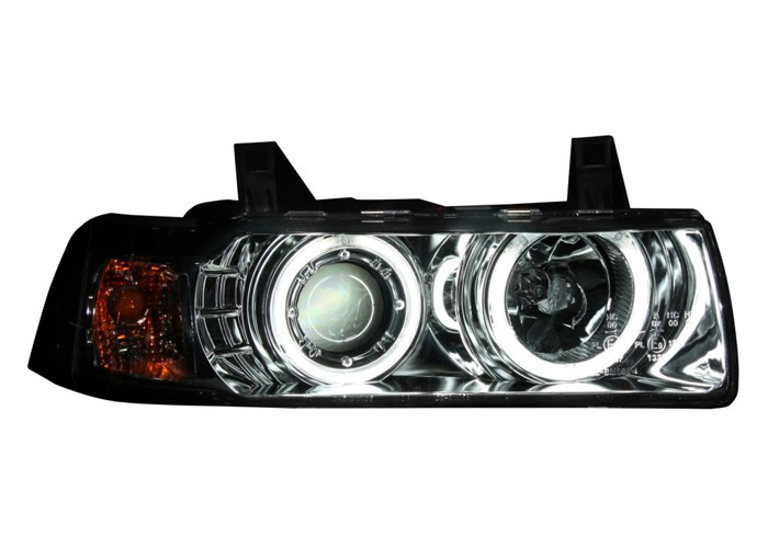 Projector Headlights LHD For BMW E36 Saloon Touring 90-99 Cool-Look Ang - 1