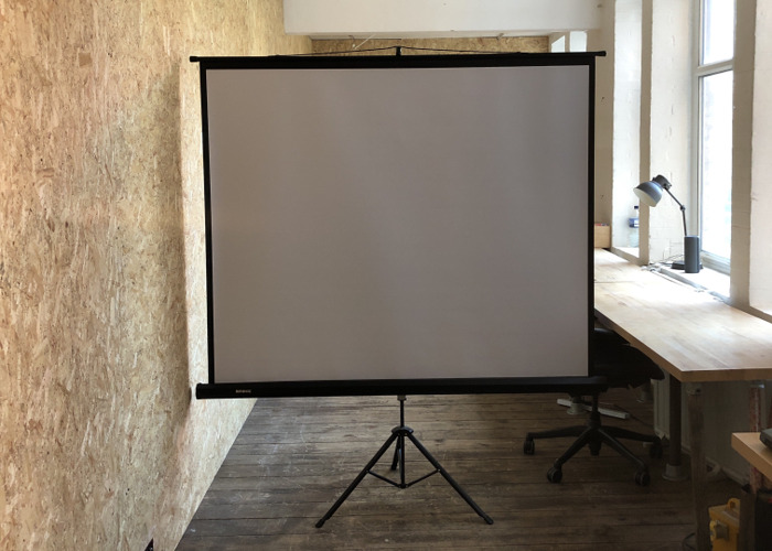 Projector screen 100 x 100 inch - 1