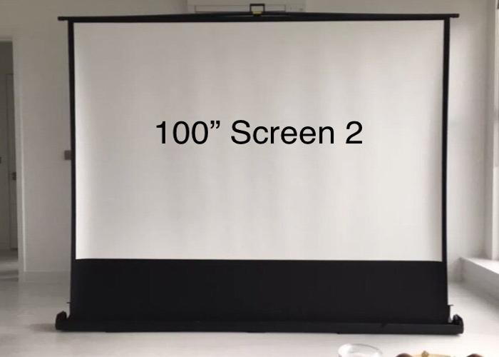 """Projector Screen Freestanding  100"""" - 1"""