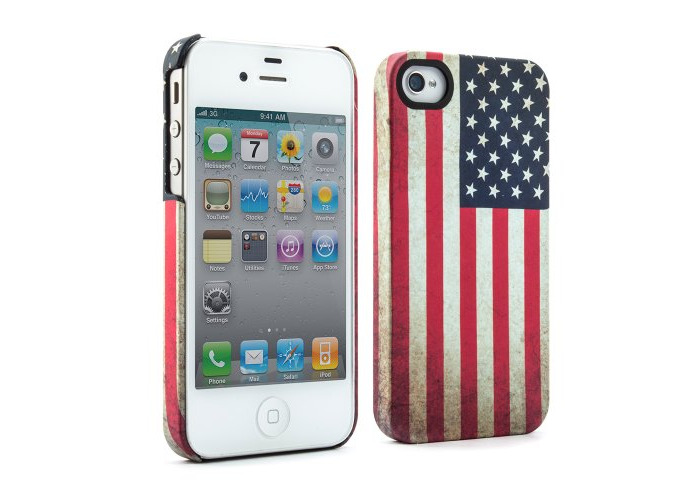 Proporta 07034 Flags Case Cover for iPhone 4S - Flags of the World Collection - South Korea - 1 Pack - Retail Packaging - White - 2