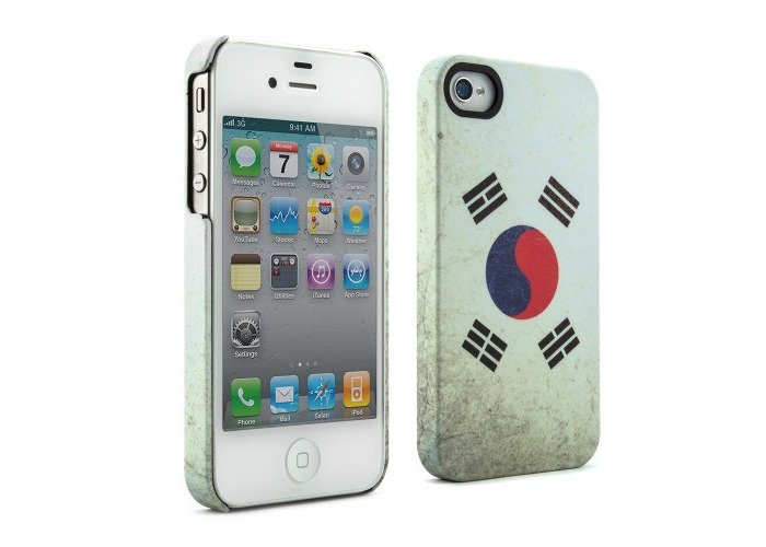 Proporta 07034 Flags Case Cover for iPhone 4S - Flags of the World Collection - South Korea - 1 Pack - Retail Packaging - White - 1