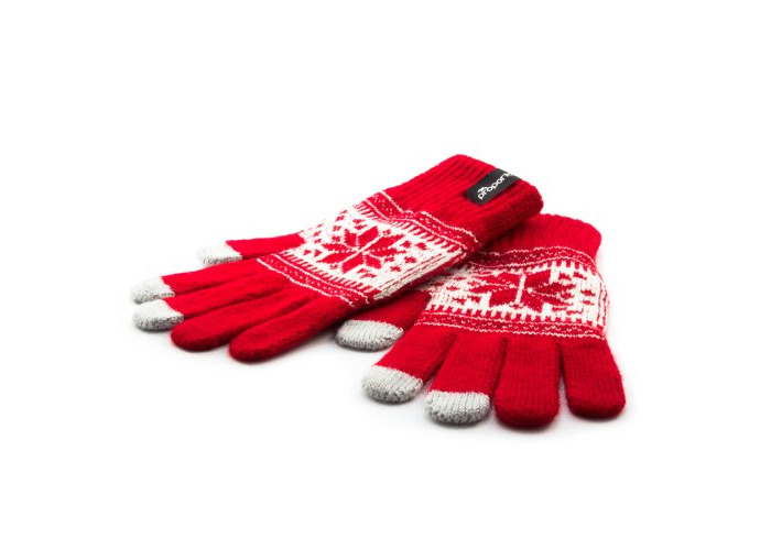 Proporta Unisex Warm Gloves for Touch Sensitive Capacitive Smartphones - Red - 1