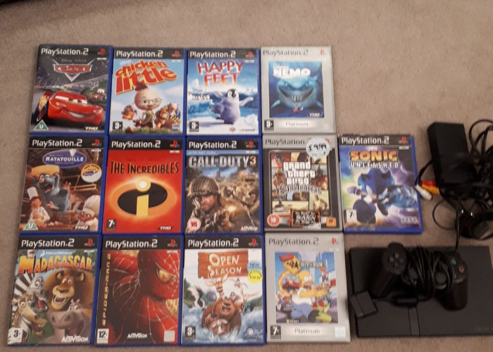 Ps2 with 13 games - 1