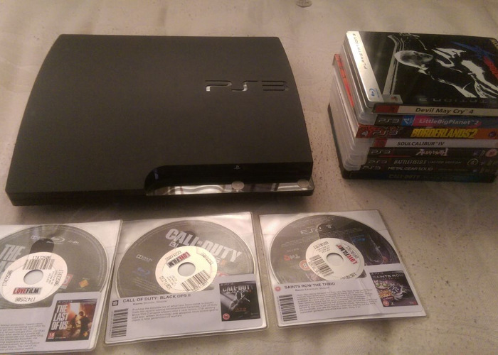 PS3 with games & controller - 2