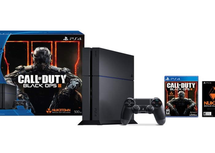 PS4 500GB Console + All Wires and One Controller + COD /BO 3 - 1