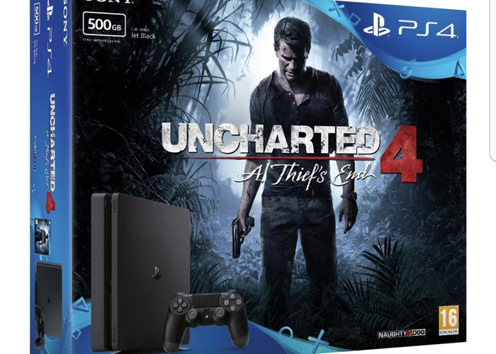 Ps4 500gb slim with uncharted 4 and wireless controller  - 1