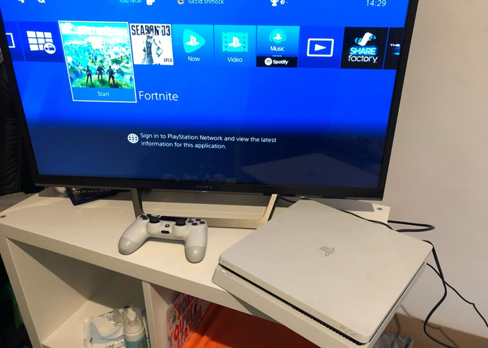 Sony Playstation 4 slim white 500gb - 2