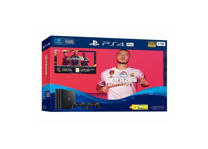 PS4 with two dual controllers and fifa 20 - 1