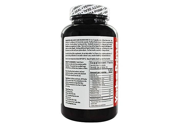 Psyllium Husks Caps, 625 mg, 180 Capsules - Yerba Prima - 2