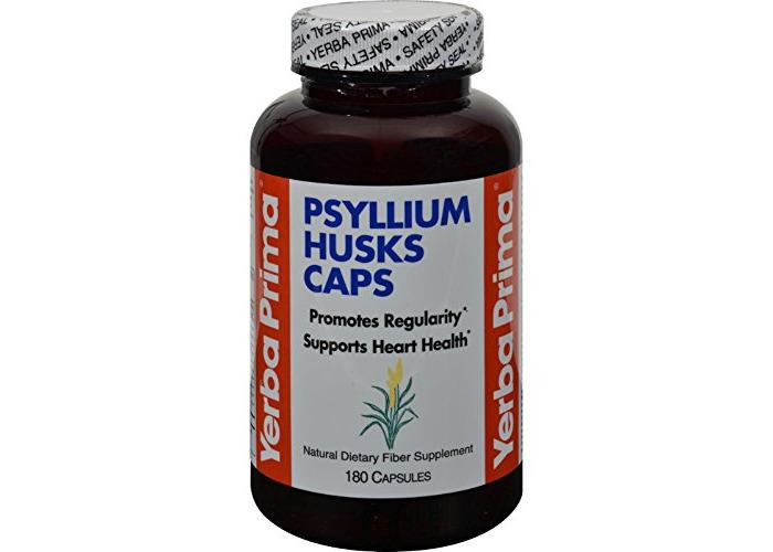 Psyllium Husks Caps, 625 mg, 180 Capsules - Yerba Prima - 1