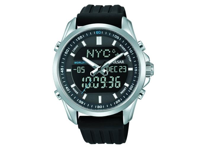 Pulsar Digital Chronograph Dual Display Black Resin Strap Gents Watch PZ4023X1 - 2