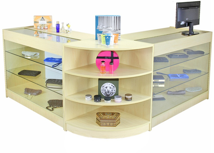 Pulsar Maple Shop Counter & Retail Display Set  - 2