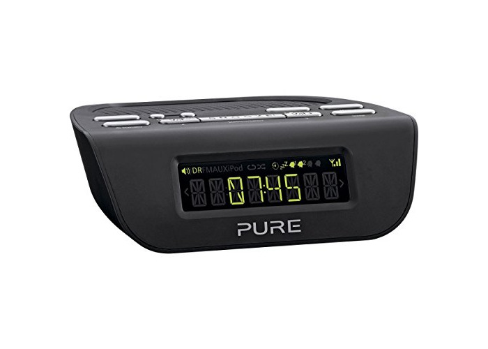 Pure Siesta Mi Series 2 DAB+/FM Alarm Clock Radio - Black - 1