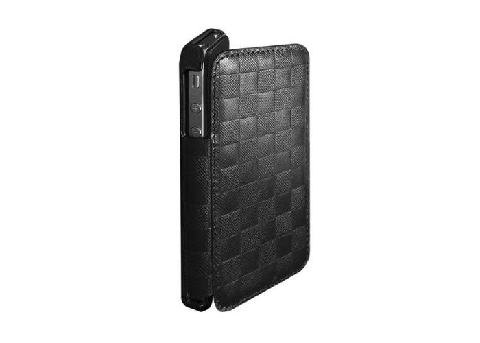 Puro iPhone 4/4S Flip Leather Case–Black - 1