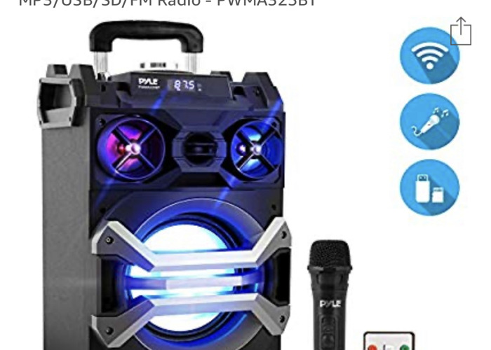 Karaoke Sound System with Bluetooth Microphone  - 1