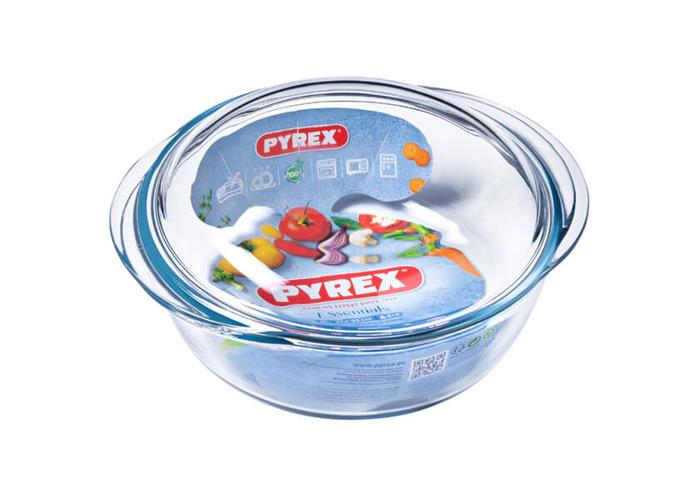 Pyrex 1 Litre Round Borosilicate Glass Casserole - 2
