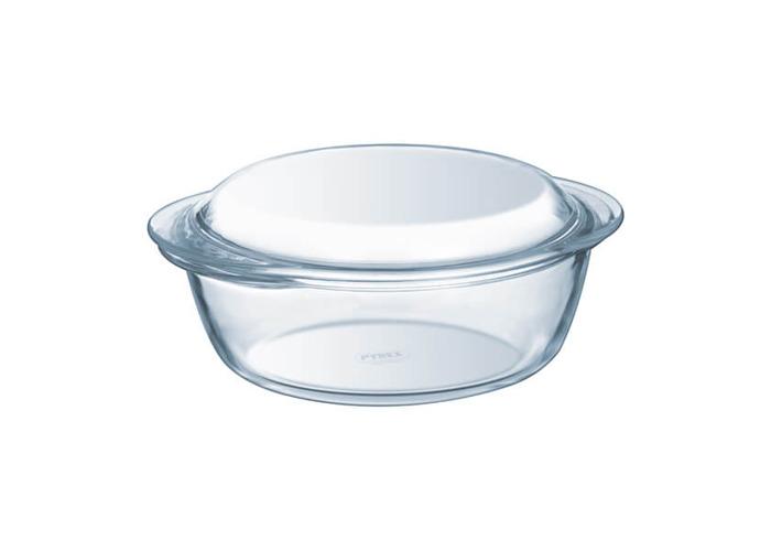 Pyrex 1 Litre Round Borosilicate Glass Casserole - 1