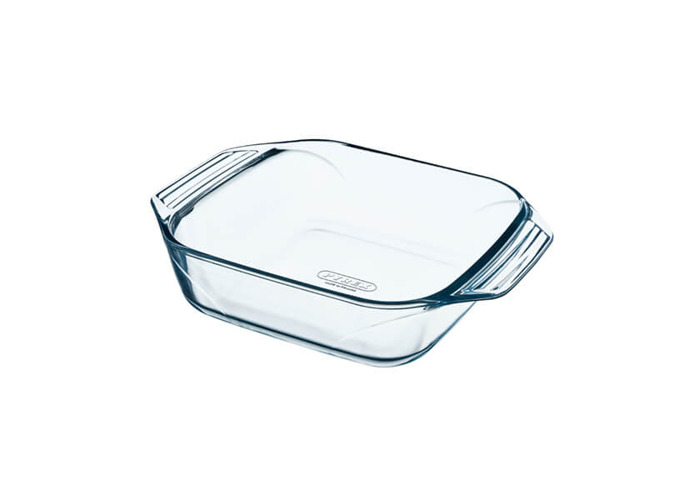 Pyrex 28 x 17 cm Medium Optimum Glass High Resistance Easy Grip Rectangular Roaster - 1