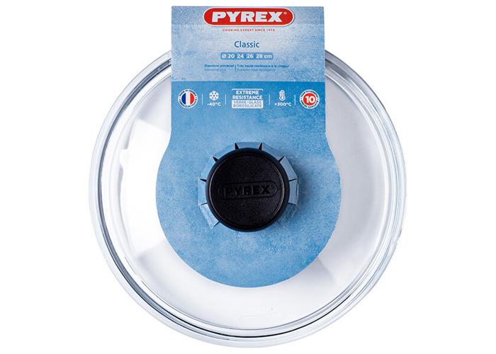 Pyrex 4937231 Transparent Glass Lid - 21.5 x 23 x 6.5 cm - 2