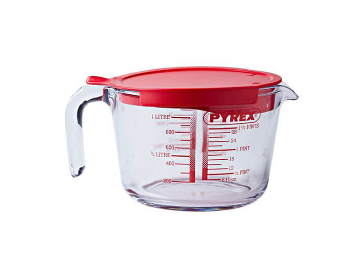 Pyrex Classic 1.0L Measuring Jug With Lid - 1