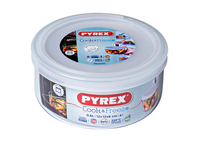 Pyrex Round Dish with Plastic Lid, 0.5L - 2