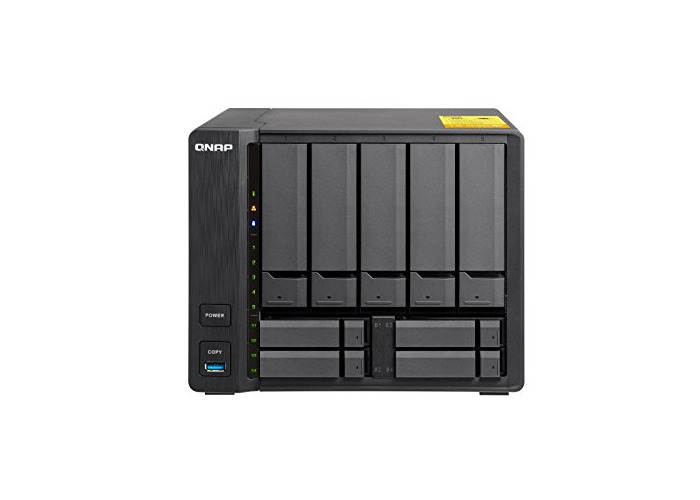 "QNAP TS-932X-2G, 5x 3.5"" + 4x 2.5"" drive bay, 2GB RAM, Hybrid NAS (Network-attached Storage) Enclosure, 3.5"" + 2.5"" drive bays with dual 10GbE ports - 1"