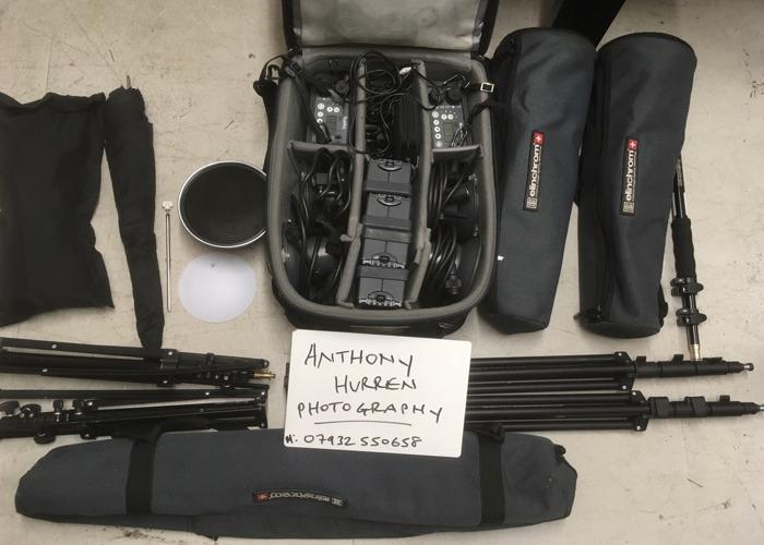 Quadra Ranger Lighting kit X 4 flash heads - 1