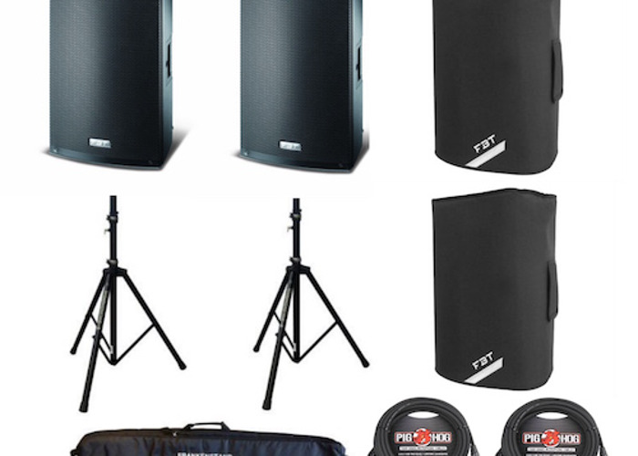 Quality 2 way PA system with DJ controller - 1