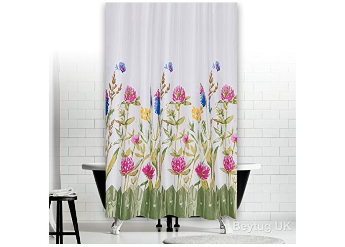 "Quality Polyester Fabric Bathroom Shower Curtain - Narrow Width , 120 X 200CM (47"" x 78"") Summer - 1"